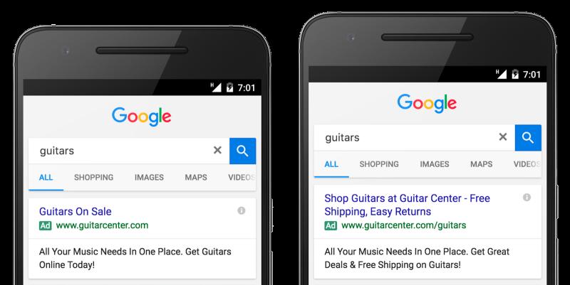 Paplašinātās reklāmas Google
